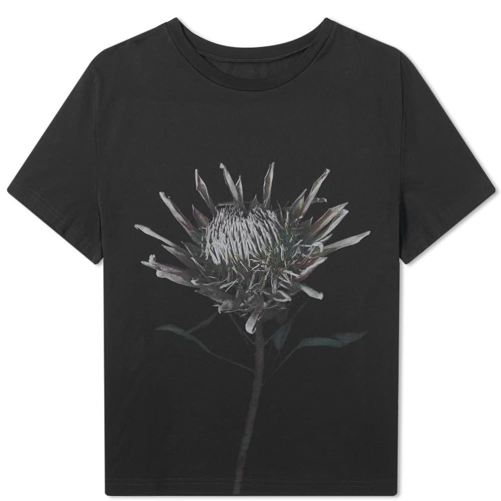 Photo: Maison Margiela 10 Flower Print Tee Black