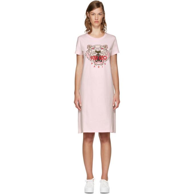 Kenzo Pink Limited Edition Tiger T-Shirt Dress Kenzo 18b31f7a1f64
