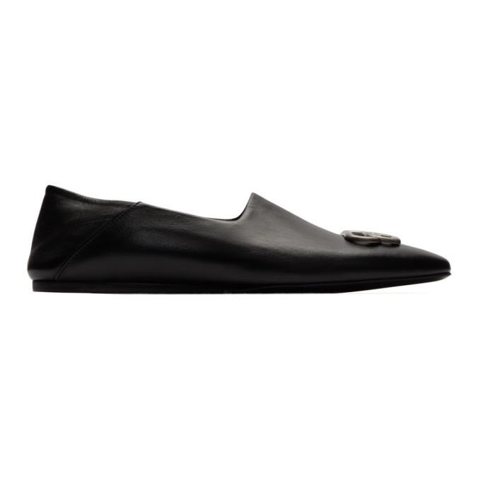 Photo: Balenciaga Black Cosy BB Loafers