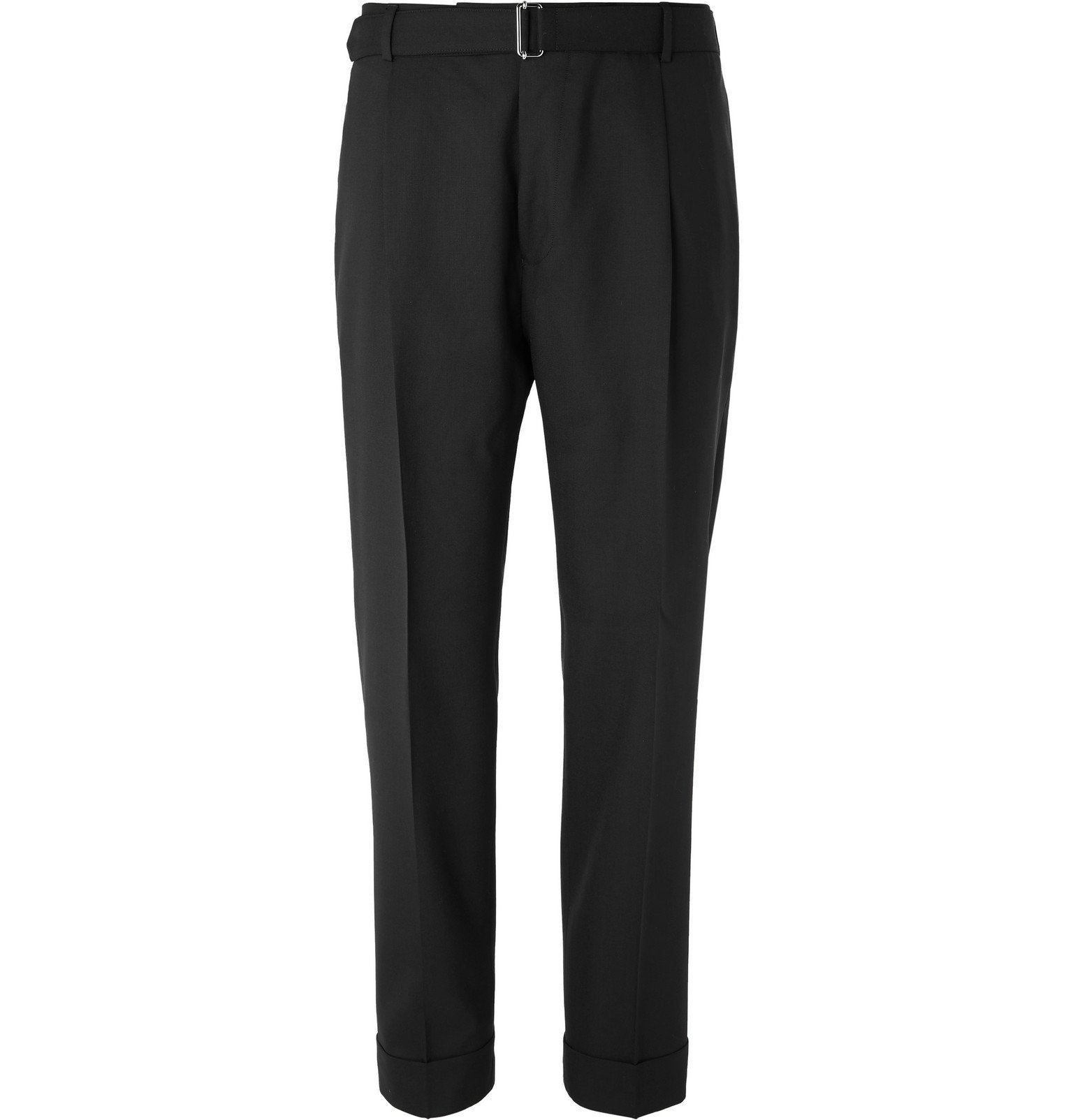 Photo: Officine Generale - Black Hugo Tapered Belted Wool Suit Trousers - Black