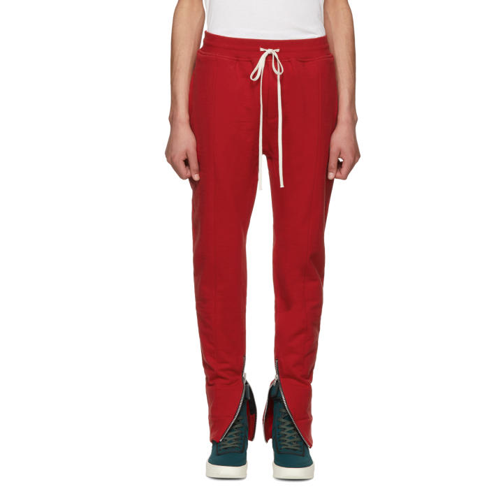 Photo: Fear of God Red Heavy Terry Lounge Pants