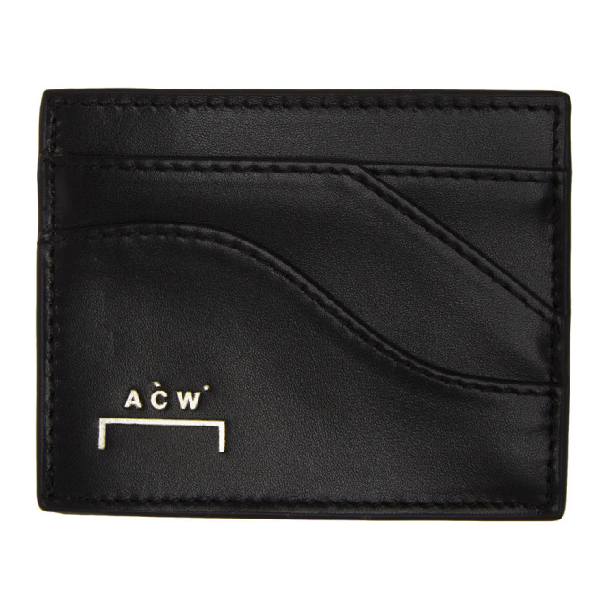 Photo: A-Cold-Wall* Black Curved Zip Card Holder