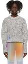 MCQ White & Purple Cropped Sweater