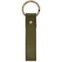 Smythson Green Panama Messenger Keychain