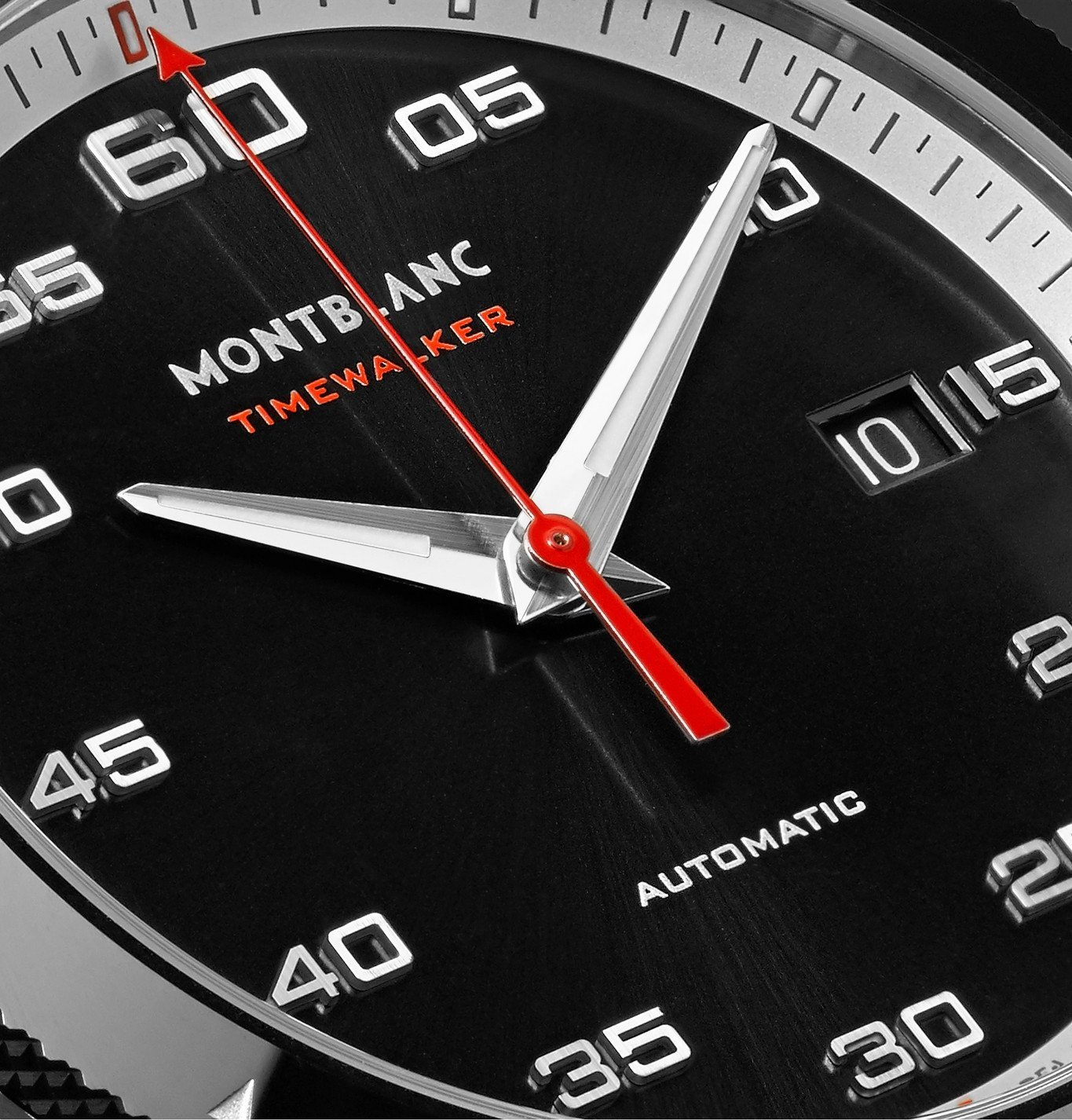 Montblanc - TimeWalker Date Automatic 41mm Stainless Steel, Ceramic and Rubber Watch, Ref. No. 116059 - Black