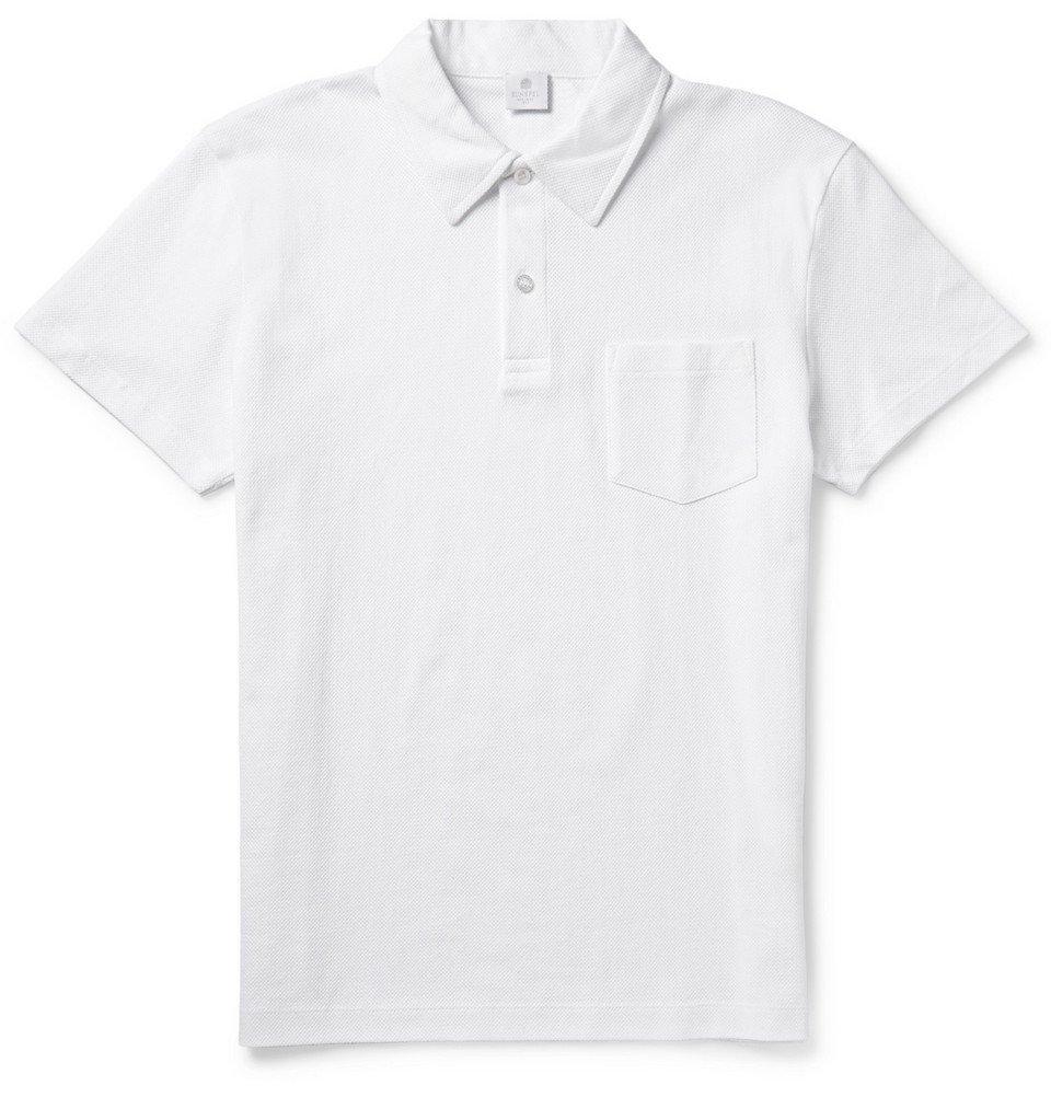 Sunspel - Riviera Cotton-Mesh Polo Shirt - Men - White