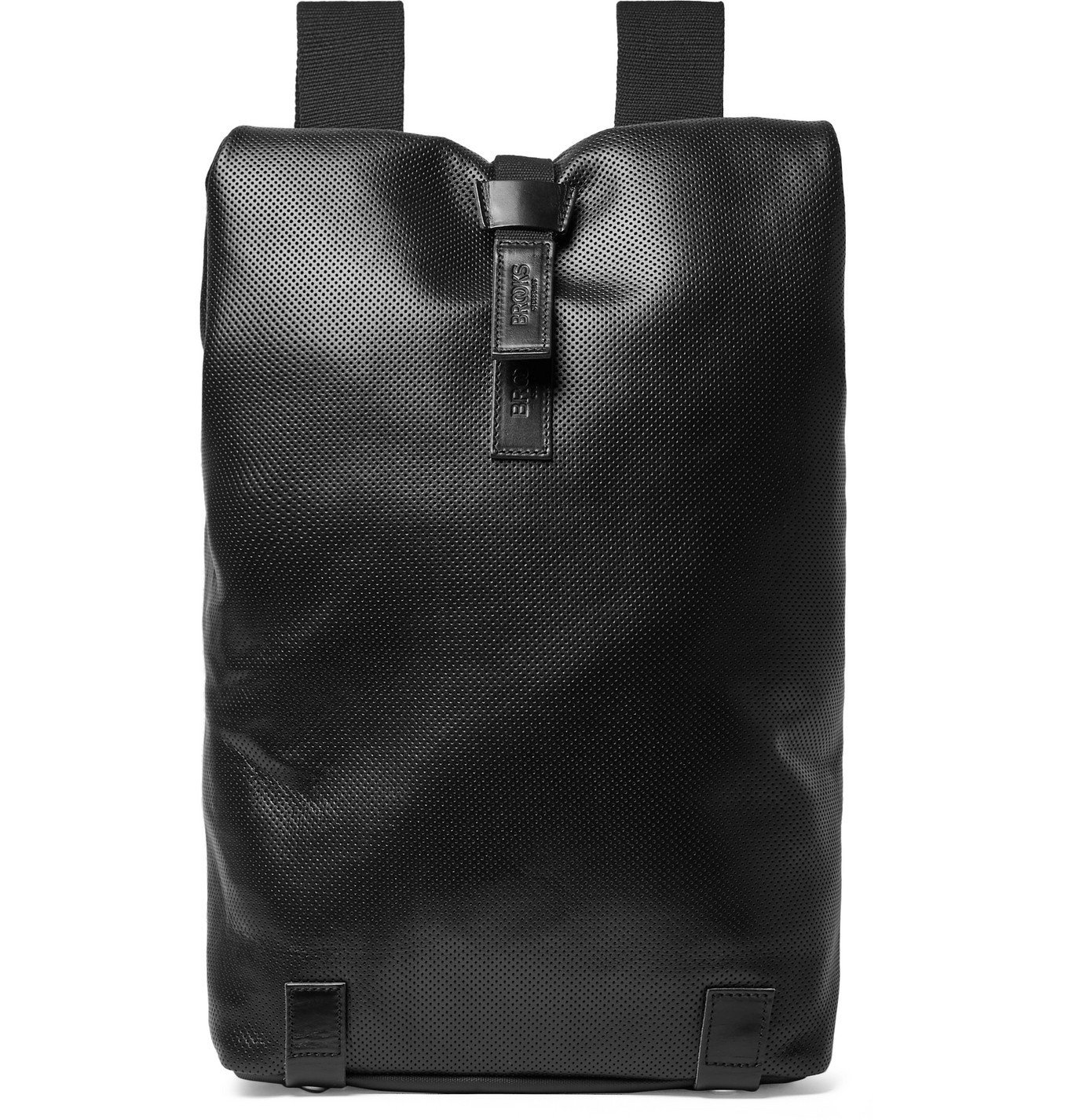 Photo: Brooks England - Pickwick Perforated Leather Cycling Backpack - Black