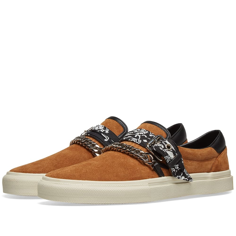 Photo: AMIRI Slip On Bandana Suede Sneaker