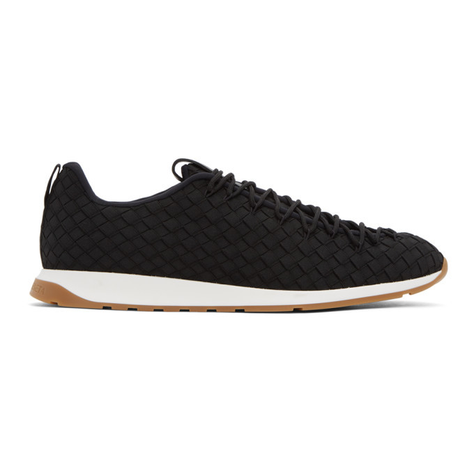 Photo: Bottega Veneta Black Intrecciato Sneakers