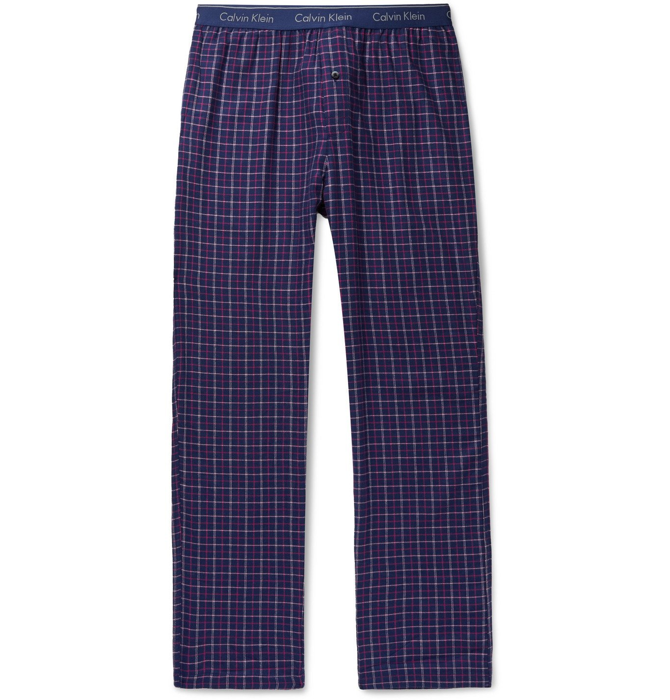 Photo: Calvin Klein Underwear - Checked Cotton-Blend Pyjama Trousers - Blue