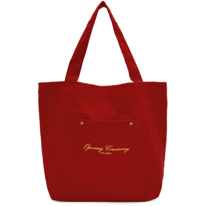 Photo: Opening Ceremony Red Corduroy Tote