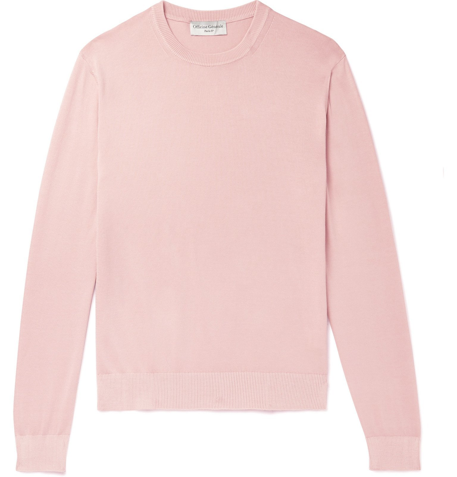 Officine Generale - Neils Cotton Sweater - Pink