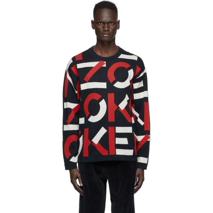 Photo: Kenzo Navy Monogram Sweater