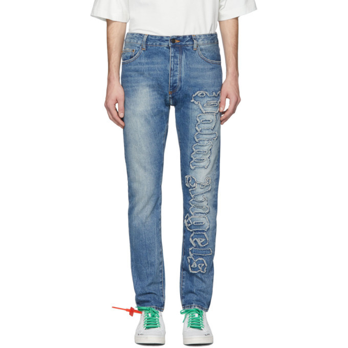 Photo: Palm Angels Blue Indaco Jeans
