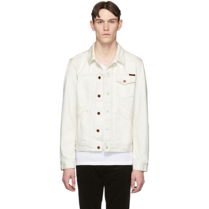 Photo: Nudie Jeans White Denim Tommy Jacket