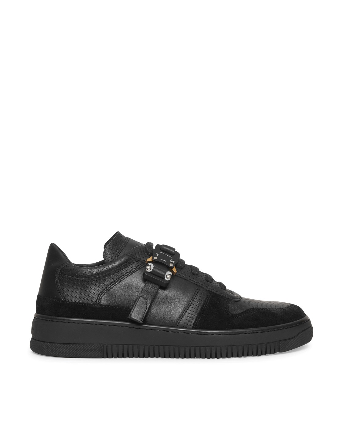 Photo: 1017 Alyx 9sm Leather Buckle Sneakers Black