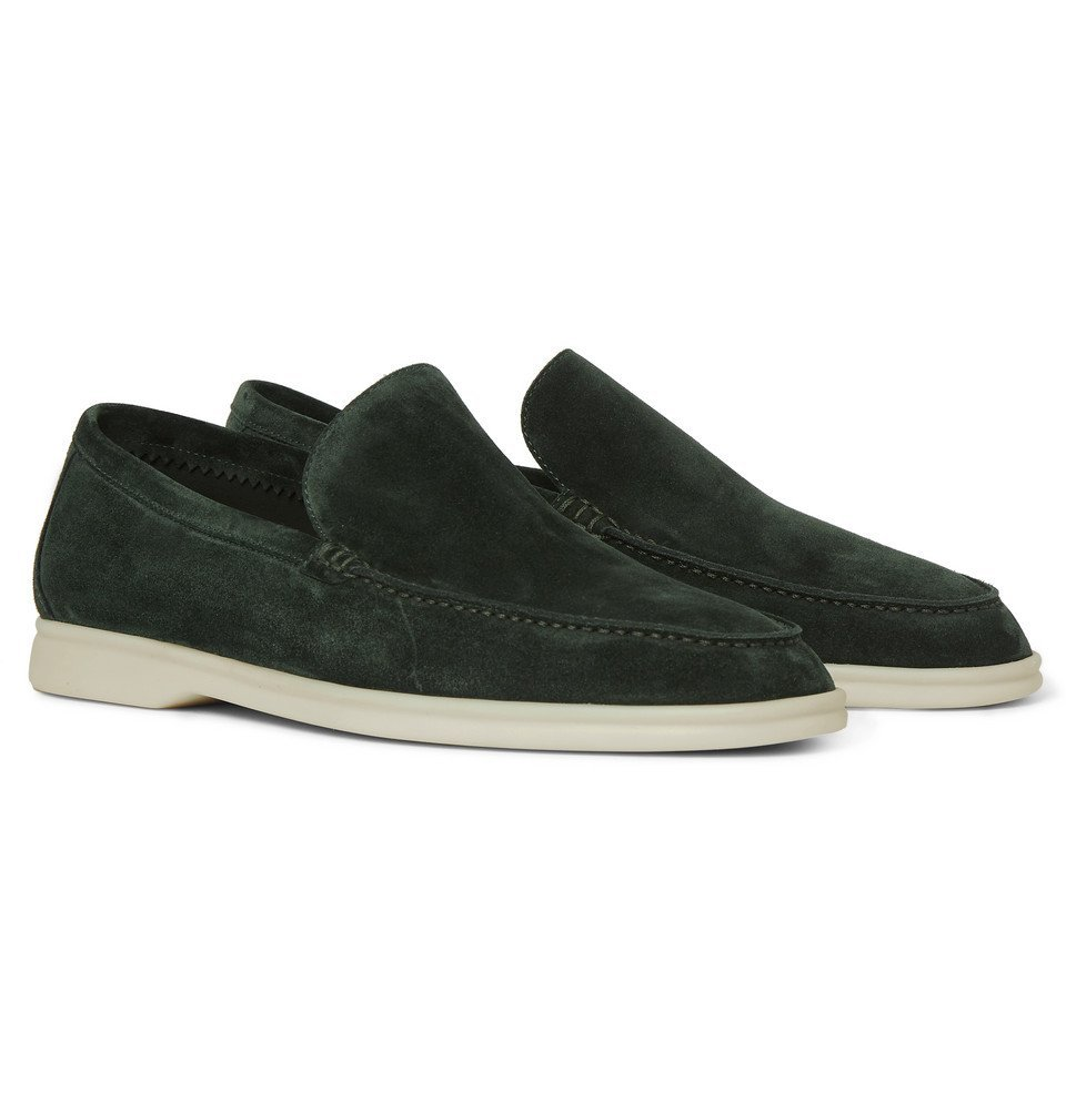 Photo: Loro Piana - Summer Walk Suede Loafers - Green