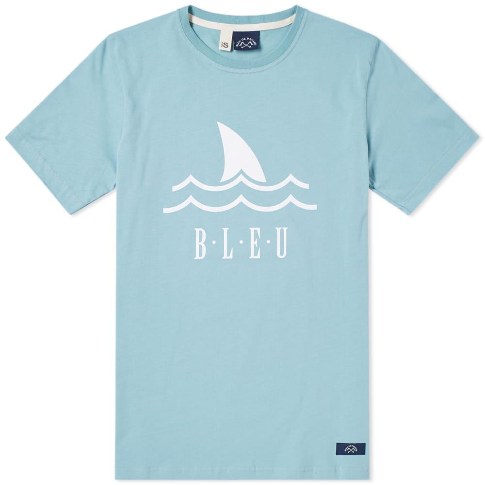 Photo: Bleu de Paname Shark Logo Tee Blue
