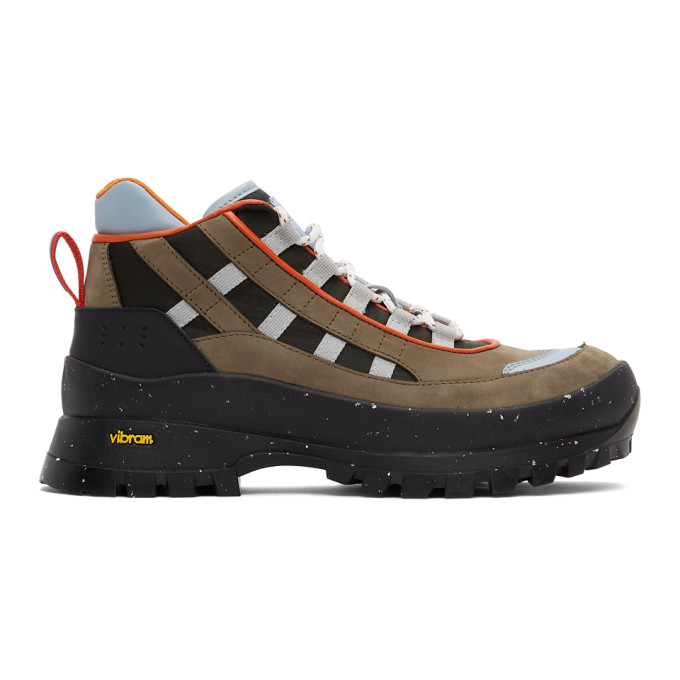 MCQ Brown and Black AL-4 Hiking Boots
