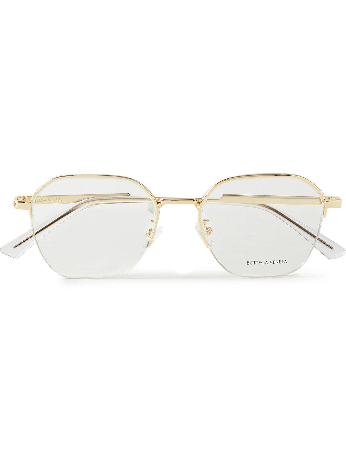 Photo: BOTTEGA VENETA - Round-Frame Gold-Tone Optical Glasses - Gold