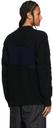 Sacai Black & Navy Cable Knit Zip-Up Sweater