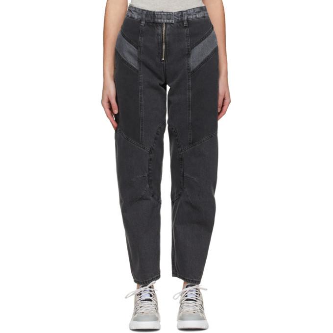 MCQ Grey Motor Paneled Jeans