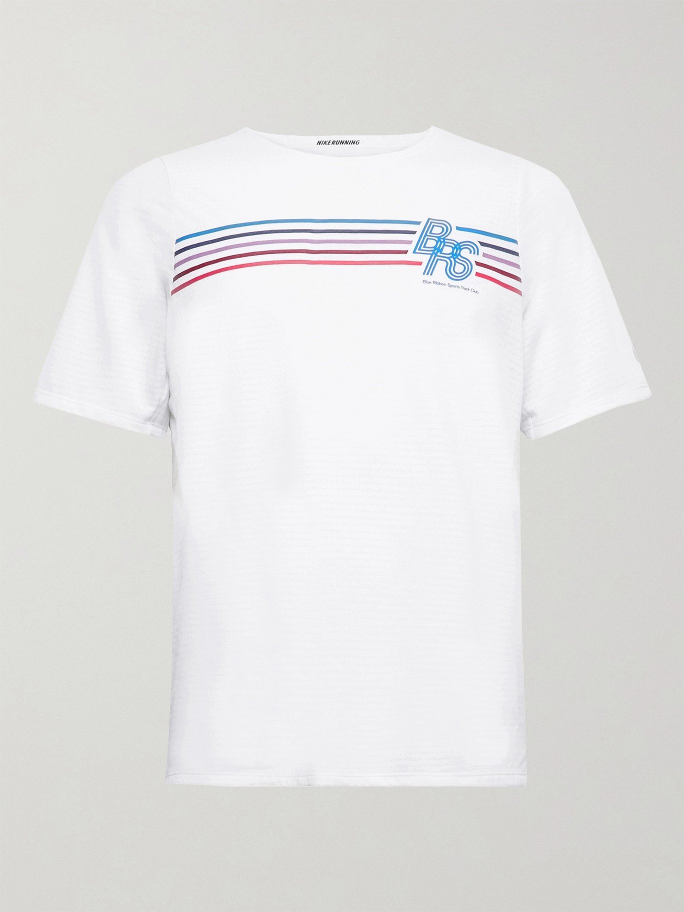 Nike Running - Rise 365 BRS Printed Perforated Dri-FIT T-Shirt - White
