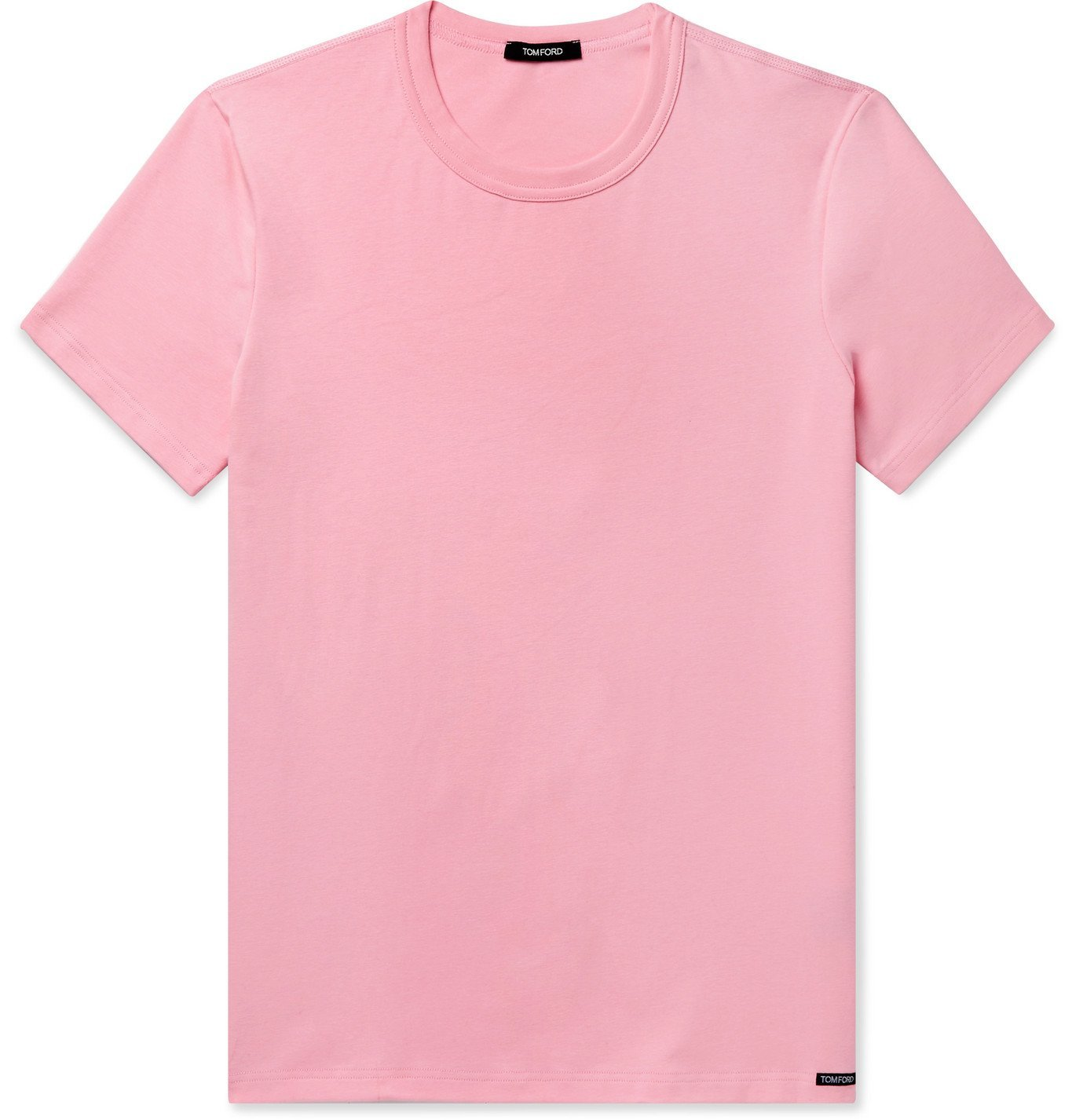 Photo: TOM FORD - Slim-Fit Mélange Stretch-Cotton Jersey T-Shirt - Pink
