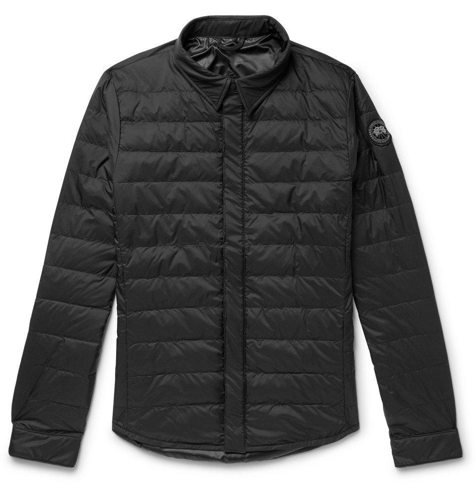 Photo: Canada Goose - Jackson Slim-Fit Quilted Nylon Down Shirt Jacket - Black