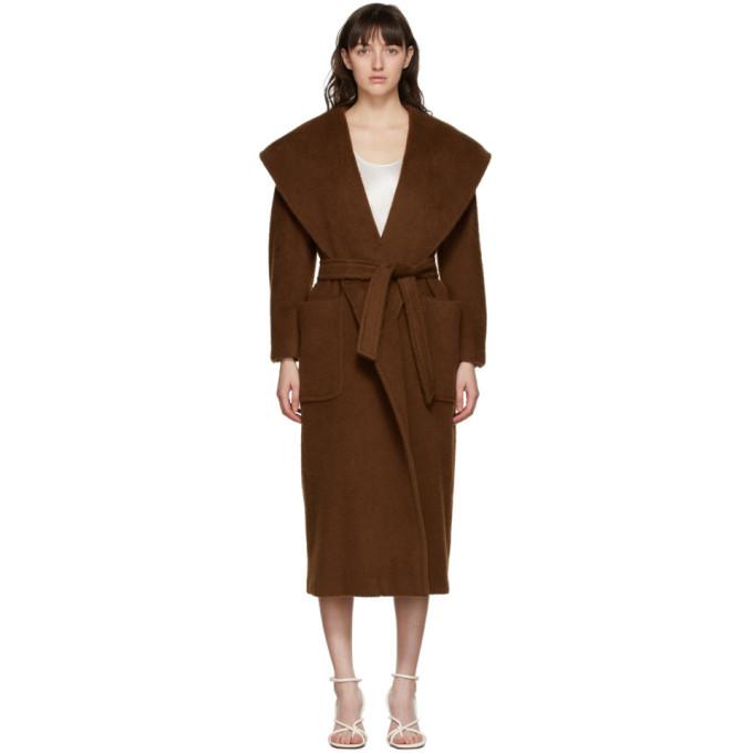 Max Mara Brown Gentile Wrap Coat