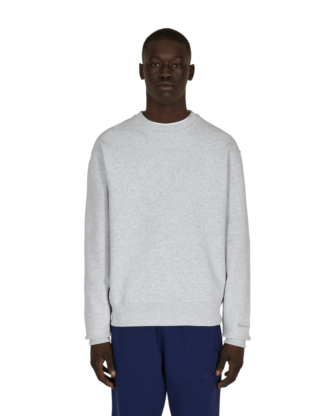 Photo: Adidas Originals Pharrell Williams Basics Crewneck Sweatshirt Light Grey Heather