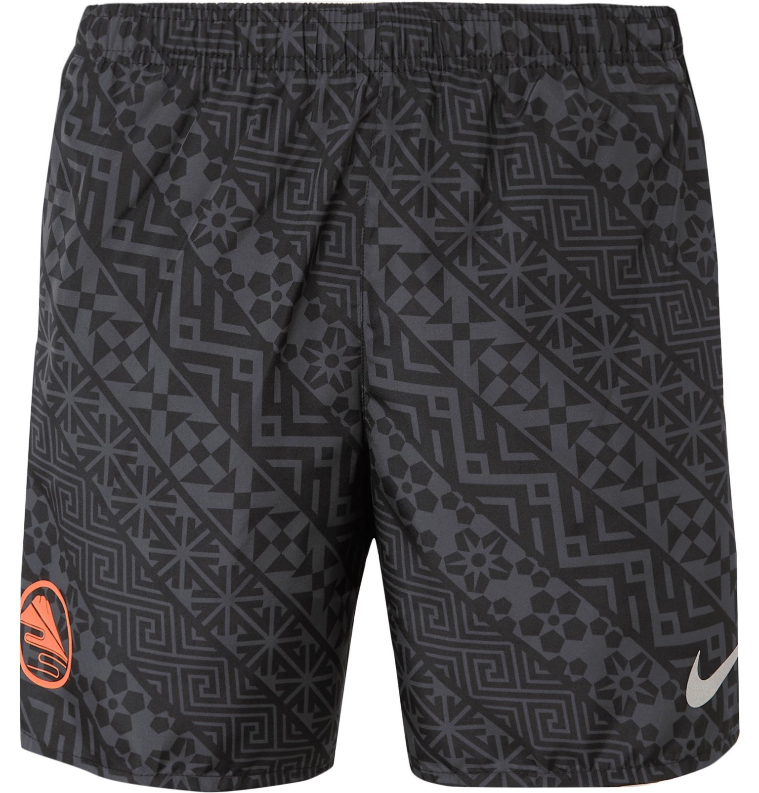 Photo: Nike Running - Challenger Printed Dri-FIT Shorts - Gray