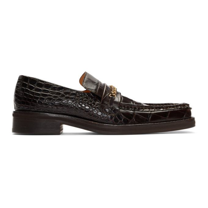 Martine Rose Brown Croc Loafers