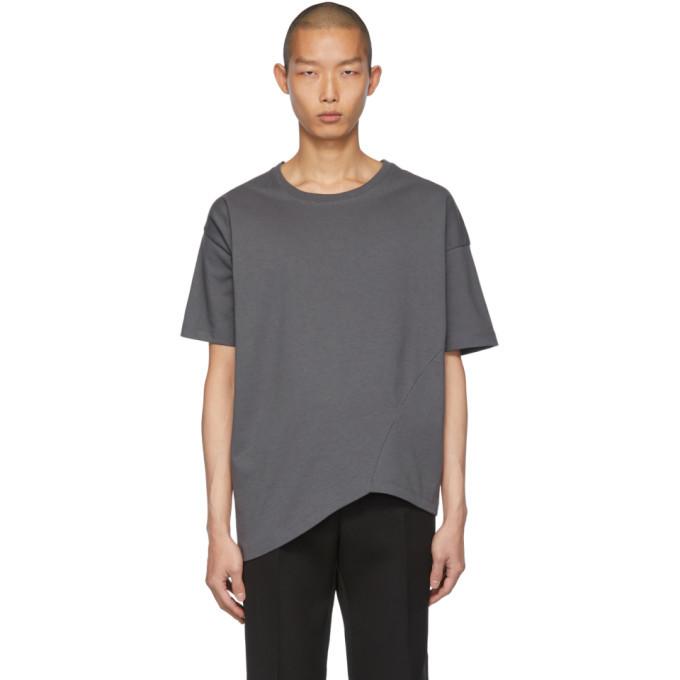 Photo: Bottega Veneta Grey Asymmetric T-Shirt