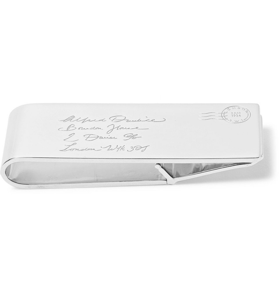Dunhill - Engraved Sterling Silver Money Clip - Men - Silver