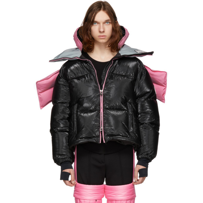 Photo: Colmar A.G.E. by Shayne Oliver Pink and Black Down Tyvek Concept Coat