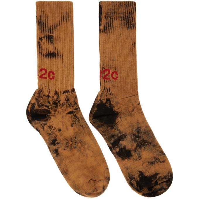 Photo: 032c Black Bleach Logo Socks