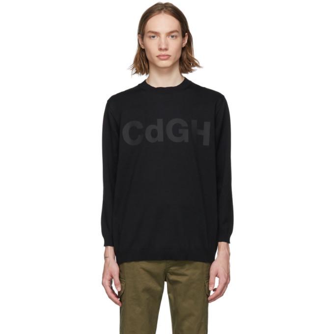 Photo: Comme des Garcons Homme Black Logo Sweatshirt