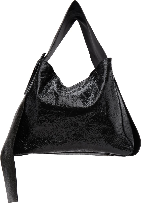 Photo: Acne Studios Black Patent Bucket Bag