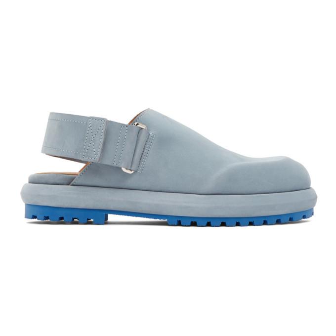 Photo: Jacquemus Blue Nubuck Les Mules Shoes