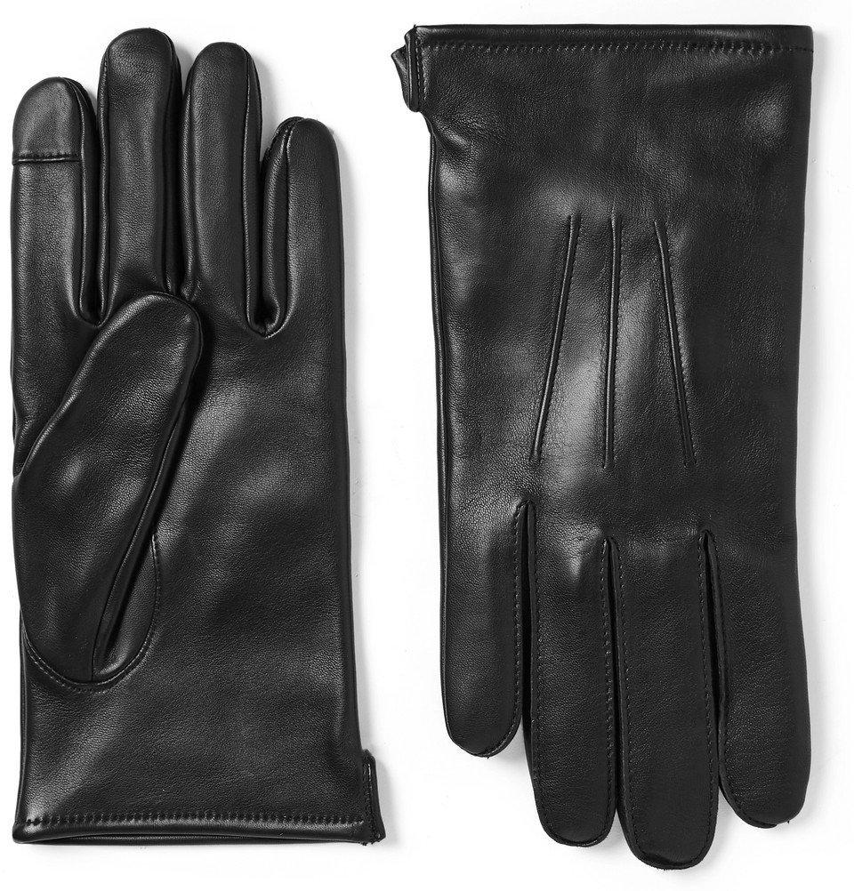 Photo: J.Crew - Wool-Blend Lined Leather Gloves - Men - Black