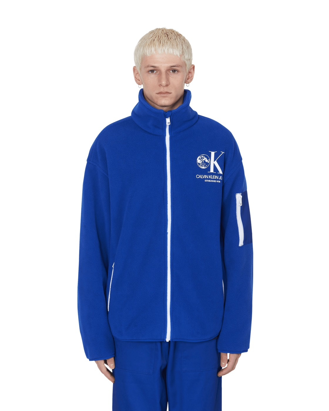 Photo: Calvin Klein Est. 1978 Graphic Fleece Jacket Surf The Web