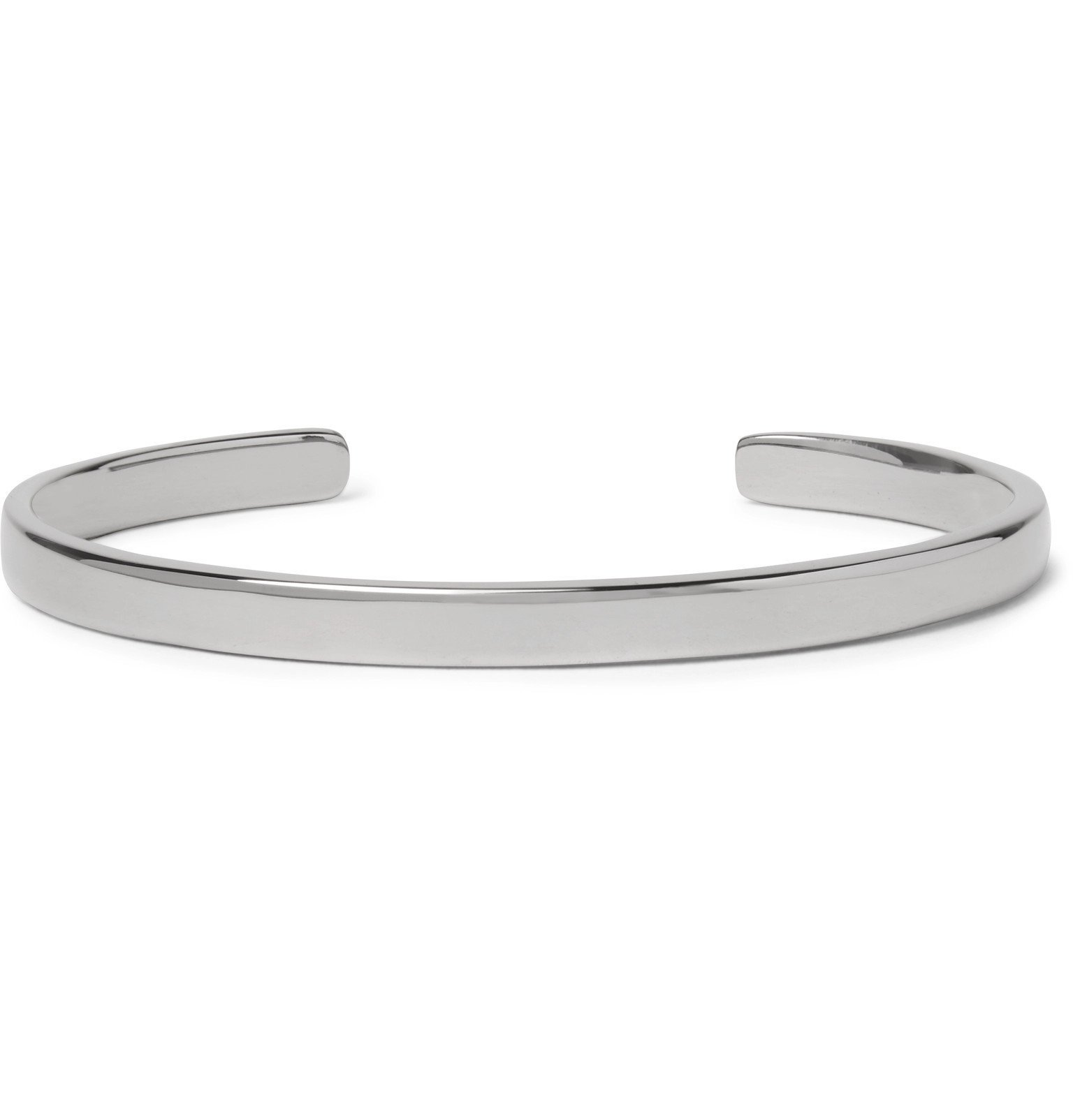 Photo: Miansai - Singular Polished Rhodium-Plated Sterling Silver Cuff - Silver
