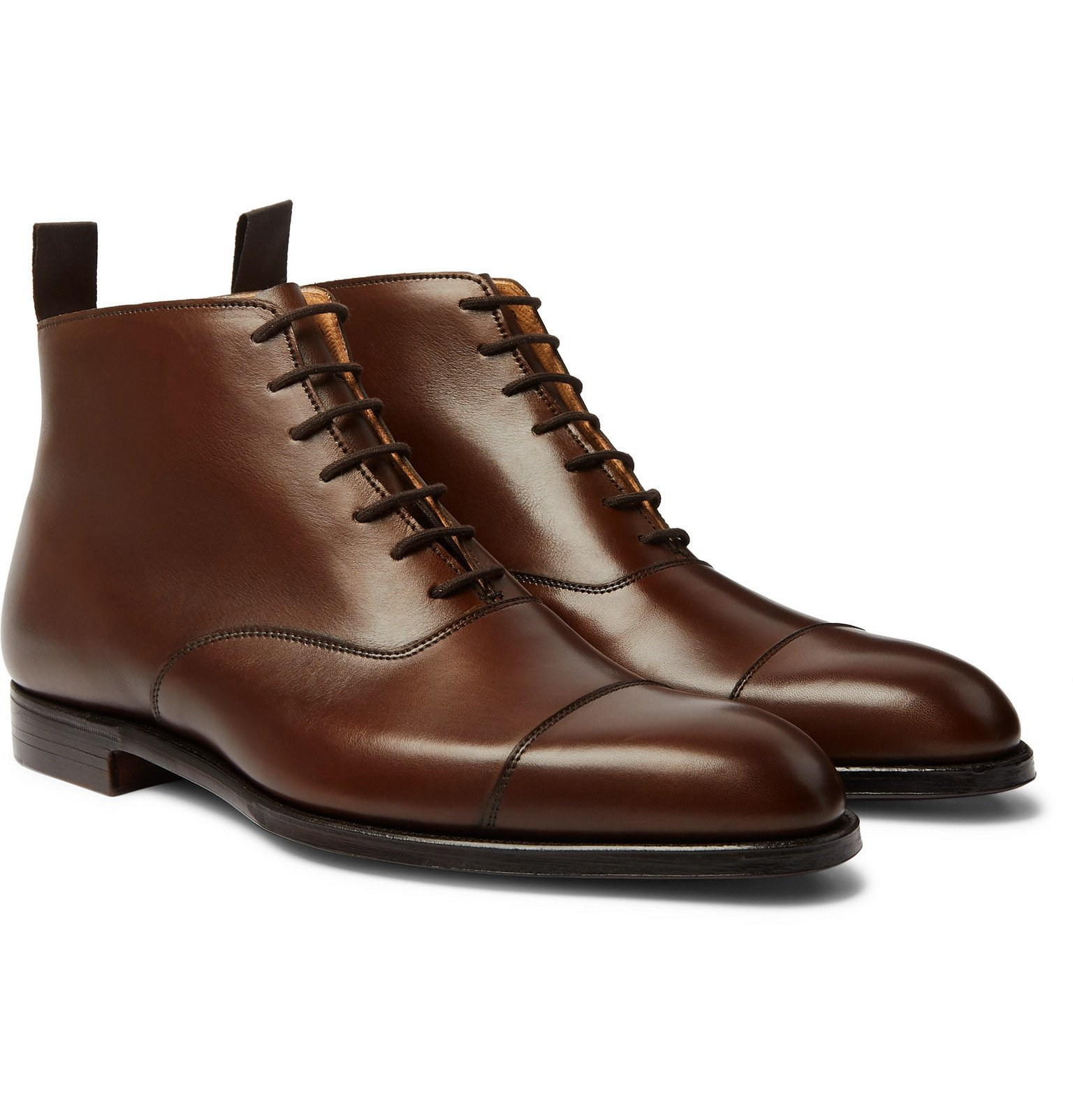 Photo: George Cleverley - William Cap-Toe Leather Boots - Brown