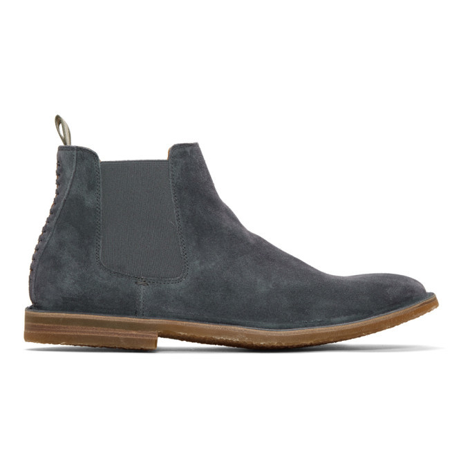 Photo: Officine Creative Blue Suede Waldorf 6 Chelsea Boots