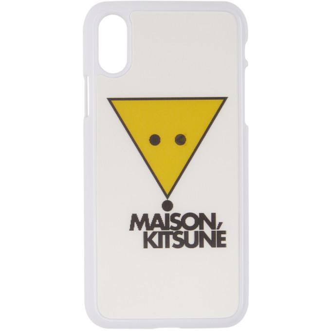 Photo: Maison Kitsune White Winking Hologram Fox iPhone X Case