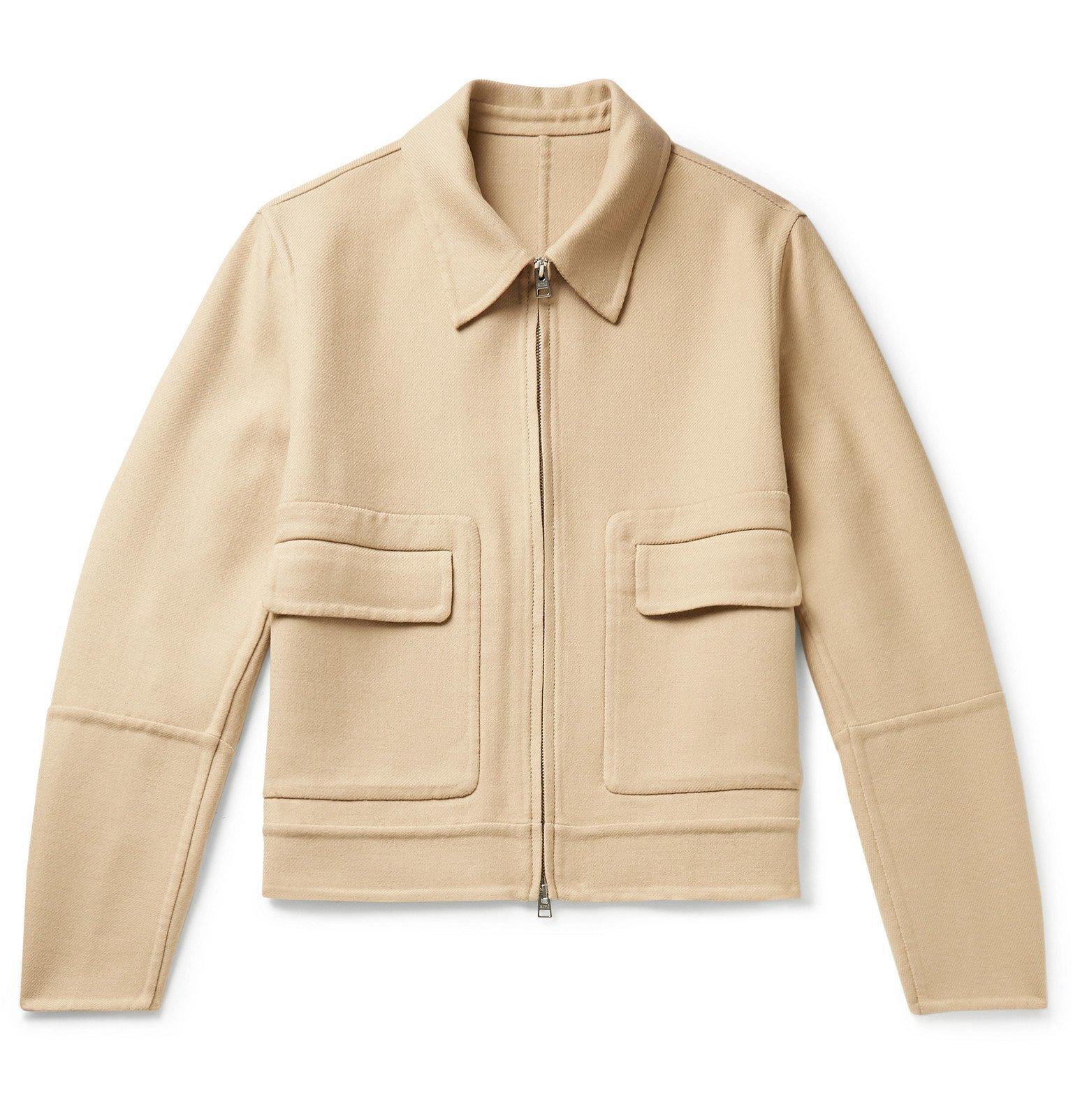 Photo: AMI - Cropped Wool-Blend Twill Jacket - Neutrals