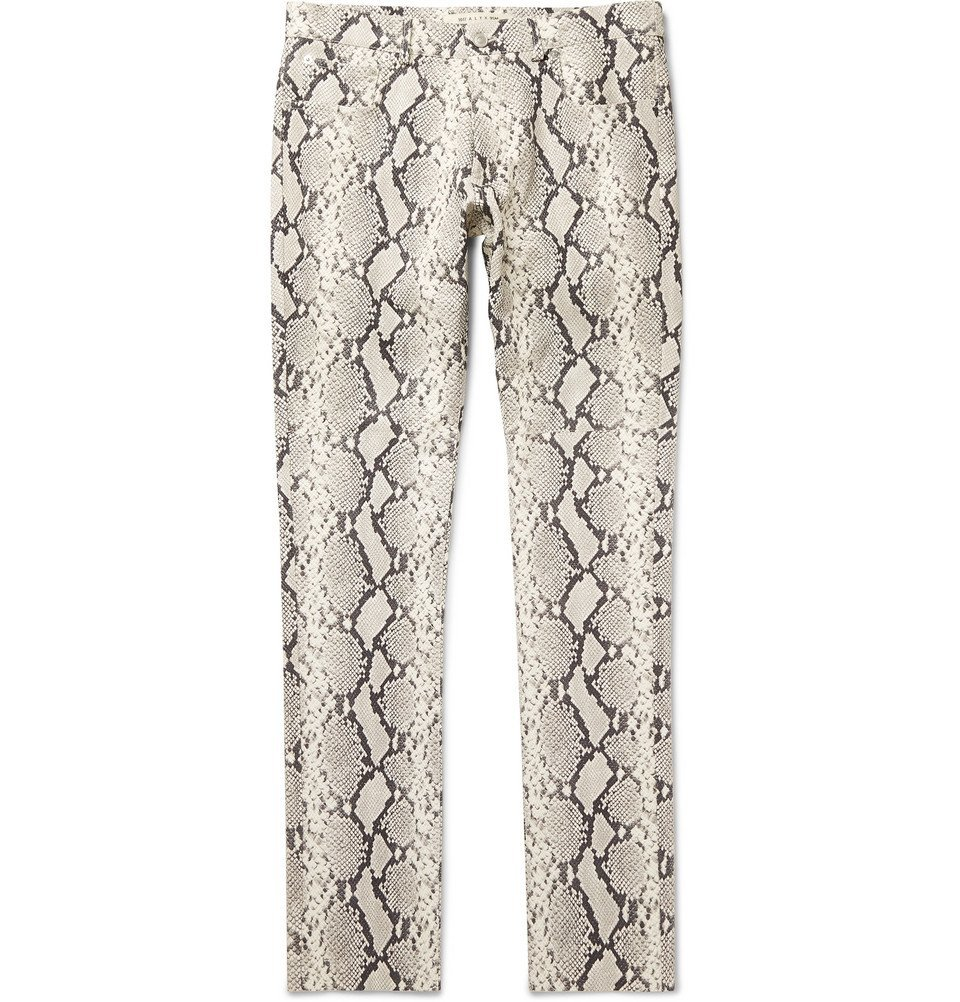 1017 ALYX 9SM - Slim-Fit Snake-Print Leather Trousers - Snake print