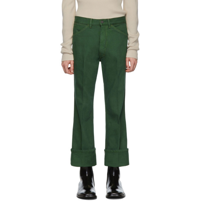 Photo: Lemaire Green Bootcut Jeans