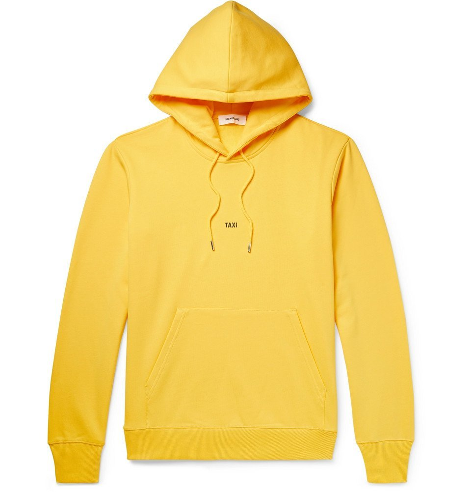 Photo: Helmut Lang - Taxi Loopback Cotton-Jersey Hoodie - Men - Yellow